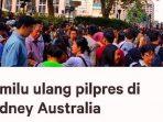 Akibat 400 Orang Tak Bisa Nyoblos, Ribuan WNI Sydney Tandatangani Petisi Coblosan Ulang