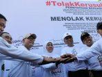 Gubernur Khofifah bersama Forkopimda Pimpin Aksi Deklarasi Jatim Bersatu Tolak Kerusuhan untuk Indonesia Damai